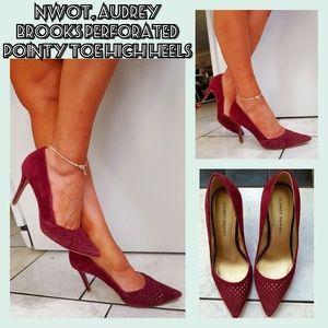 LN, Audrey Brooks Sloane perforated stilettos